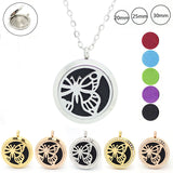 Magnetic Butterfly Diffuser Locket Necklace: Various Styles and Sizes