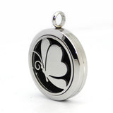 Aromatherapy Necklace - Stainless Steel Perfume Locket Necklace with Butterfly