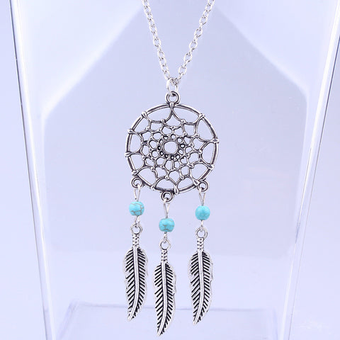 Boho Dreamcatcher Pendant Necklace