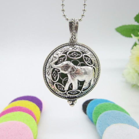 Vintage Elephant Magnetic Essential Oil Diffuser Necklace