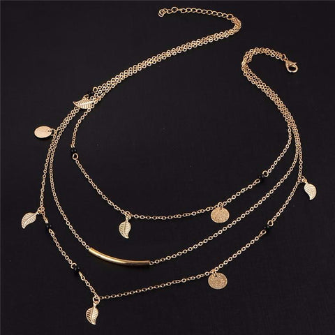 Leaves - Multi Layer Gold Infinity Necklace: Various Designs