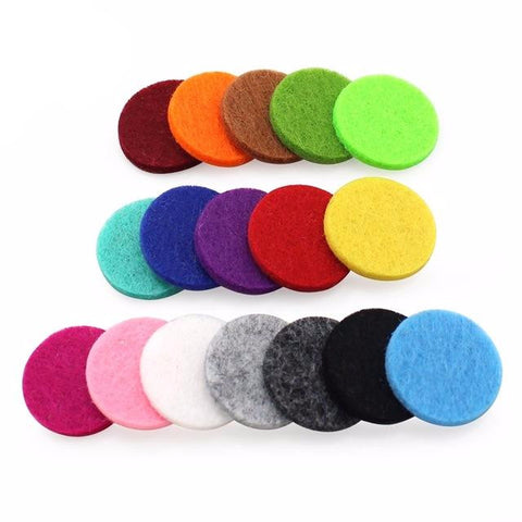 20pcs Colorful Aromatherapy Felt Pads for Essential Oil Diffuser Locket Mixed Colors