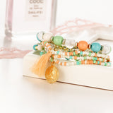Bohemian Tassel Multi Layer Love Bracelets