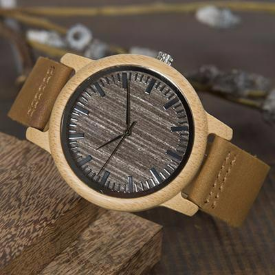 Watches - Gray Face Casual Bamboo Wooden Watch