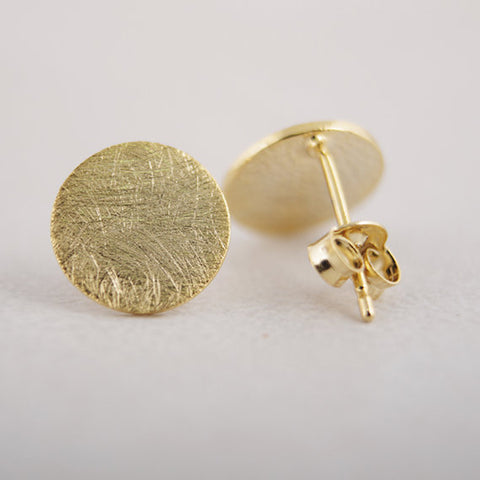 Circle Karma Geometric Stud Earrings