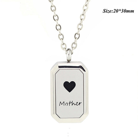 Free with Chain as Gift! 20*30mm Magnetic Closure 316L Stainless Steel Heritage Aromatherapy Locket Diffuser Necklace