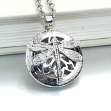 Dragonfly Essential Oil Diffuser Locket Necklace