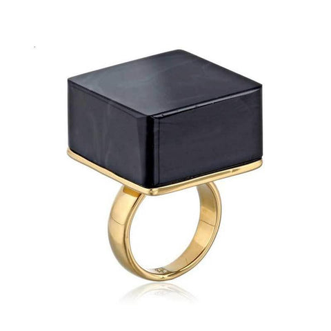 Black Square Acrylic Ring