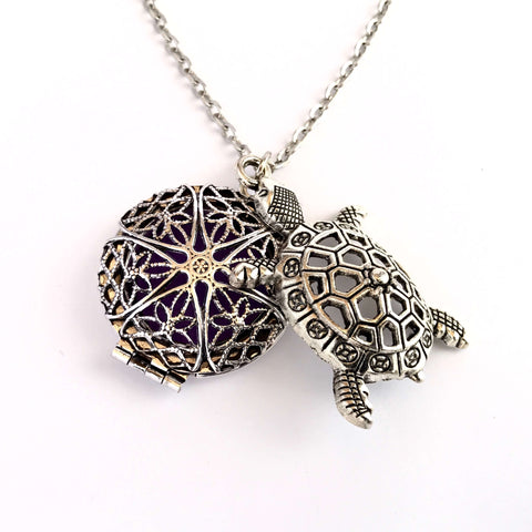 Necklaces - Sea Turtle Essential Oil Diffusing Locket Necklace