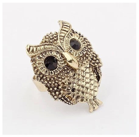 Women's Rings - Classic Owl Ring: Adjustable Size