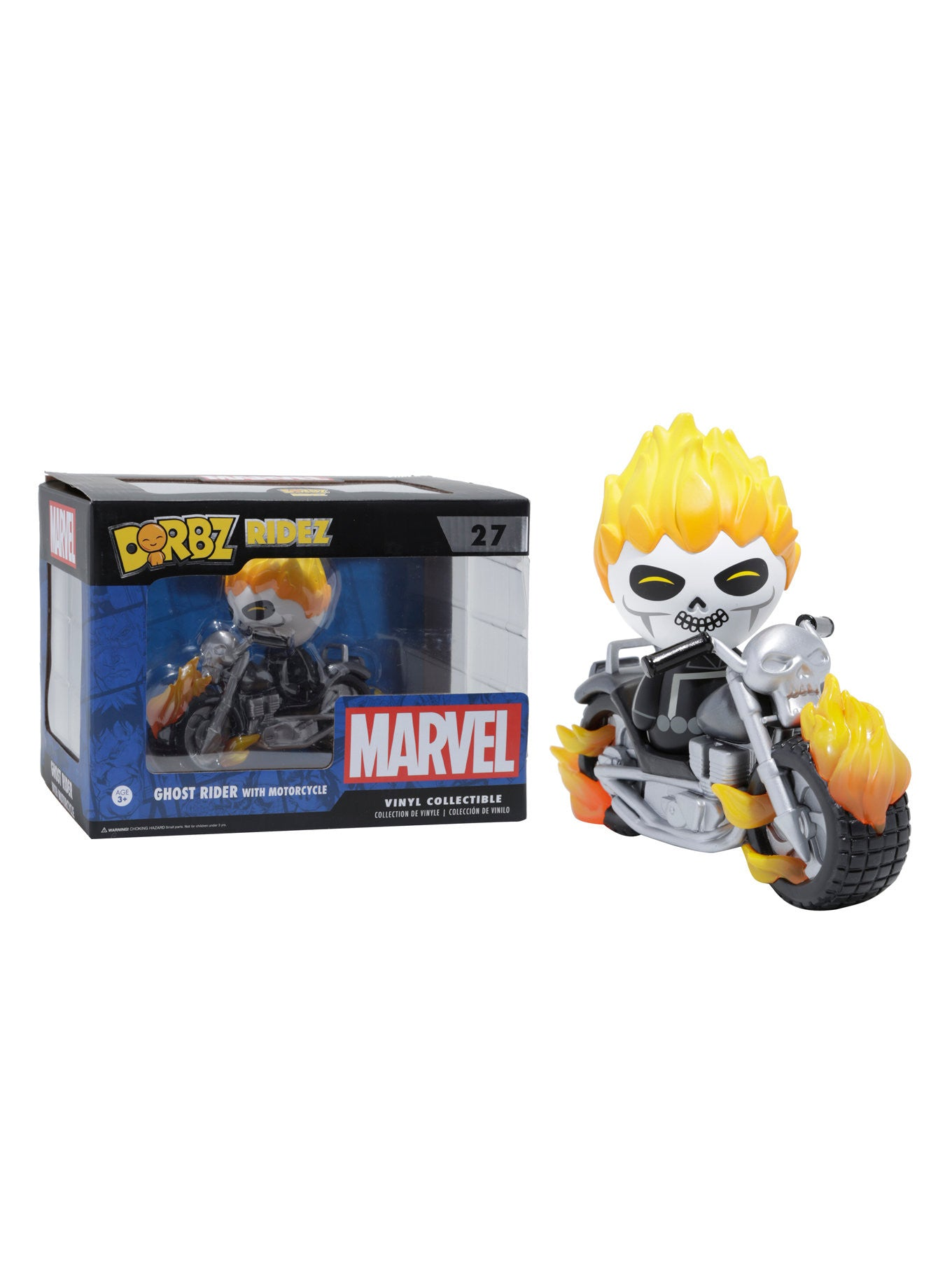 FUNKO MARVEL DORBZ RIDEZ GHOST RIDER WITH MOTORCYCLE VINYL COLLECTIBLE