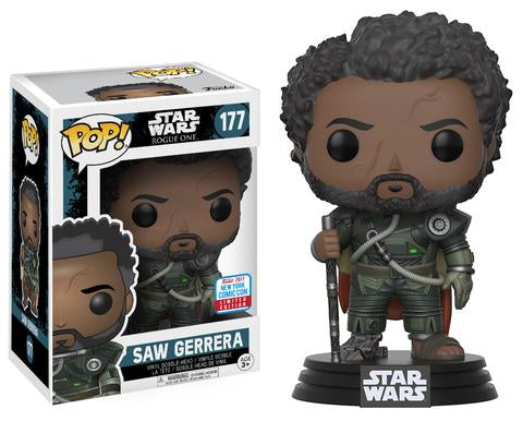 Funko Pop Vinyl! Star Wars Saw Gerrera (w/ Hair) Fall Convention Exclusive