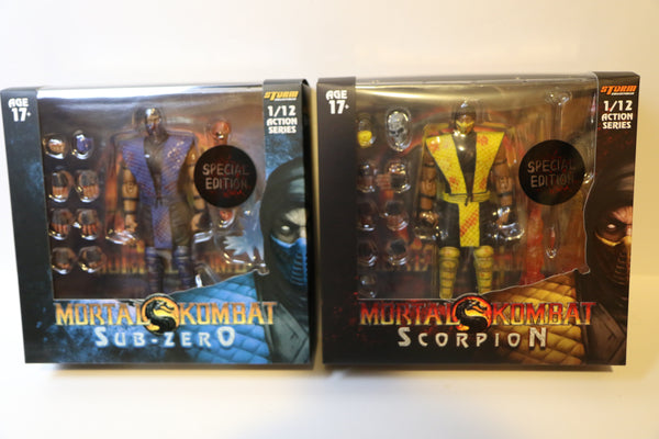 Storm Collectibles Mortal Kombat Sub-Zero & Scorpion Figure Special Edition Set