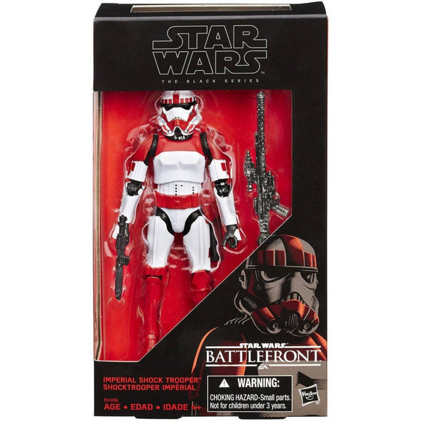 "ACTION FIGURES - Hasbro Star Wars Black Series 6"" Inch Imperial Shock Trooper Walmart Excl.. MINT"