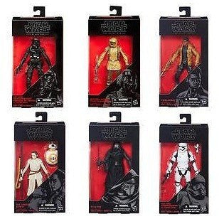"ACTION FIGURES - Hasbro Star Wars Black Series 6""  Set Of 6 . Sealed Case. Wave 3"