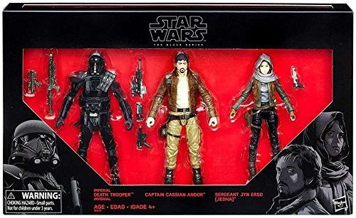 ACTION FIGURES - HASBRO STAR WARS ROGUE ONE BLACK SERIES 6 FIGURE 3 PACK EXCLUSIVE