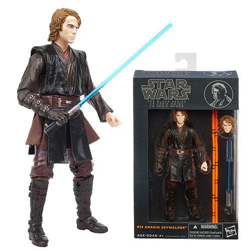 "Action Figures - Hasbro Star Wars The Black Anakin Skywalker #12 6"" Action Figure"
