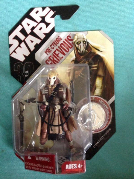 Action Figures - Star Wars 30th Anniversary Pre-Cyborg General Grievous With Coin (Expanded Universe)