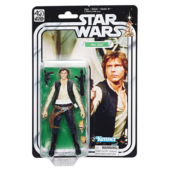 "Action Figures - Star Wars 6"" Black Series 40th Anniversary Han Solo Pre-Order"