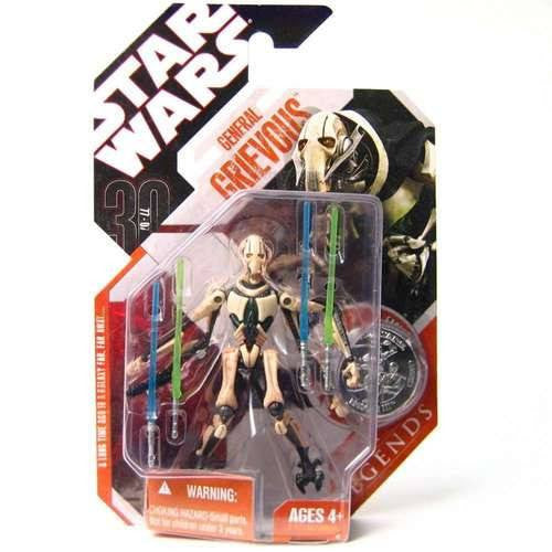 Action Figures - Star Wars Revenge Of The Sith Saga Legends 2007 30th Anniversary General Grievous Action Figure #5