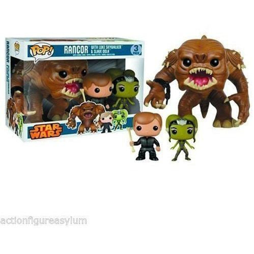 Funko Pop Vinyl - Pop Vinyl - Star Wars - Rancor, Jedi Luke Skywalker, & Oola Figure 3 Pack Funko