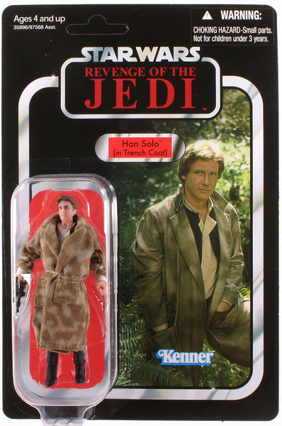 Star Wars Vintage Collection 2010 Han Solo VC62 Trench Coat Revenge of The Jedi