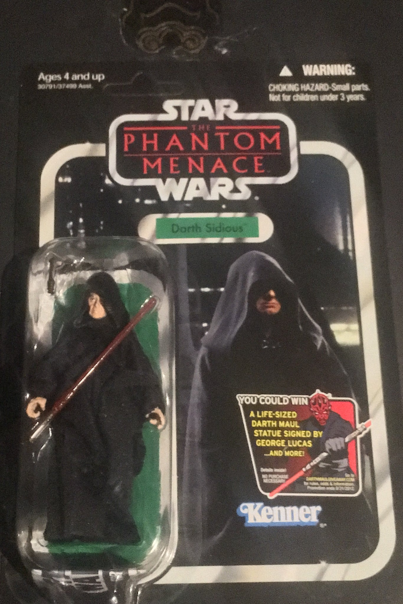 Star Wars Vintage Collection Phantom Menace Darth Sidious Vc-79 Unpunched