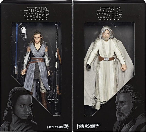 "SDCC 2017 Exclusive Black Series 6"" Luke Skywalker and Rey"