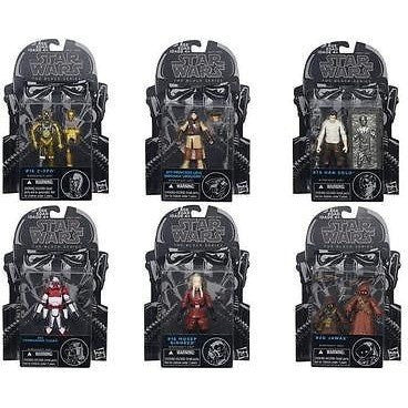 TV, Movie & Video Games - STAR WARS 2015 BLACK SERIES 3 3/4 WAVE 8 SET OF 6
