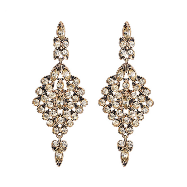 Athena Earrings - Champagne