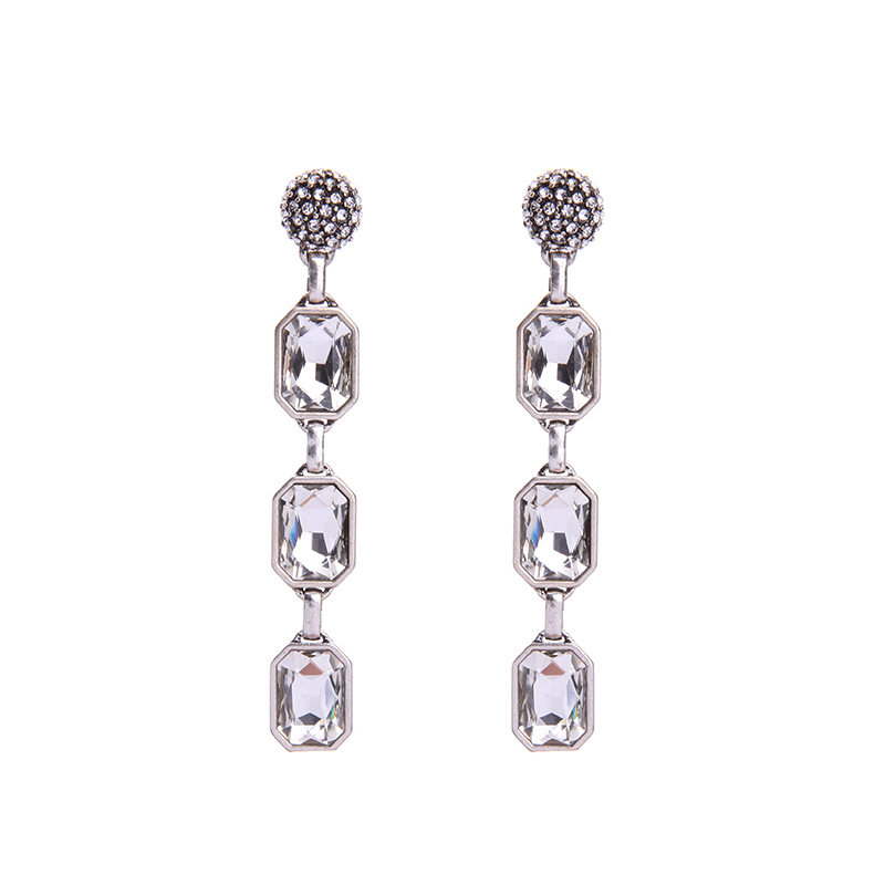Burst Drop Earrings - Clear