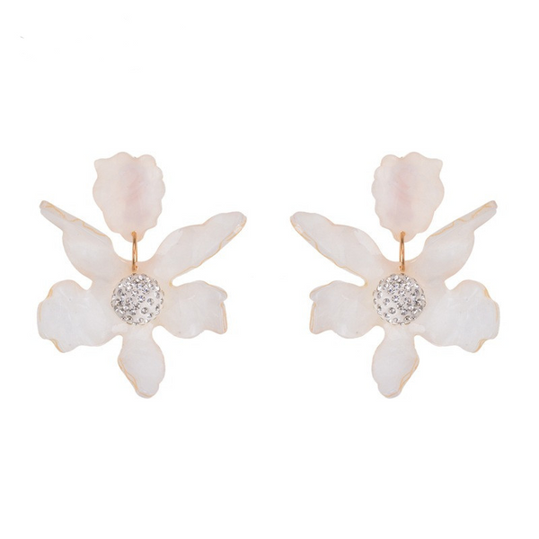 Fleur Earrings - White