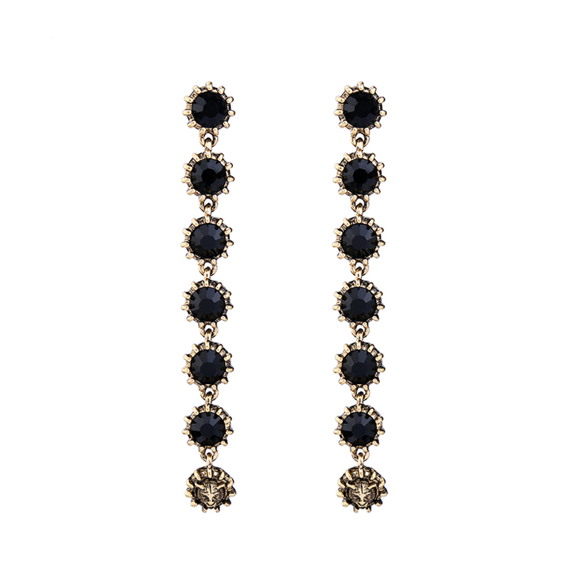 On The Town Earrings - Black