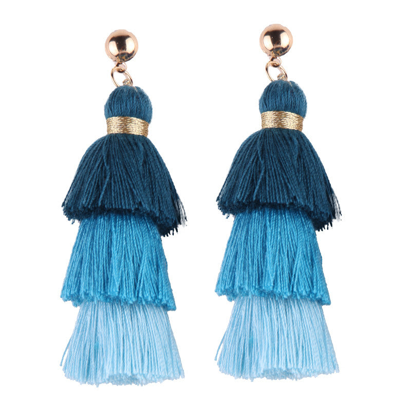 Hola Tassel Earrings - Teal