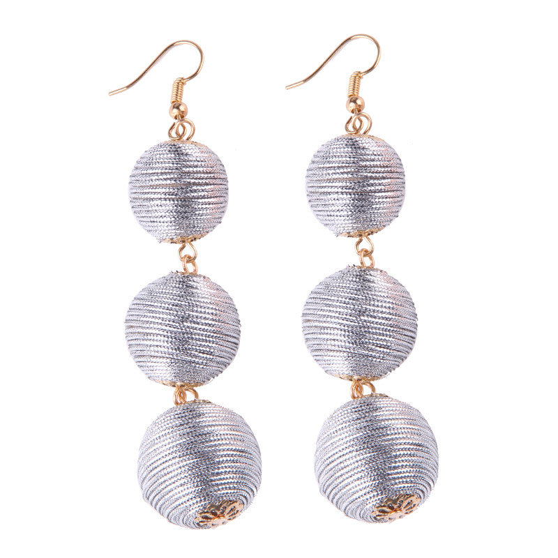 Ball Of Joy Earrings - Silver