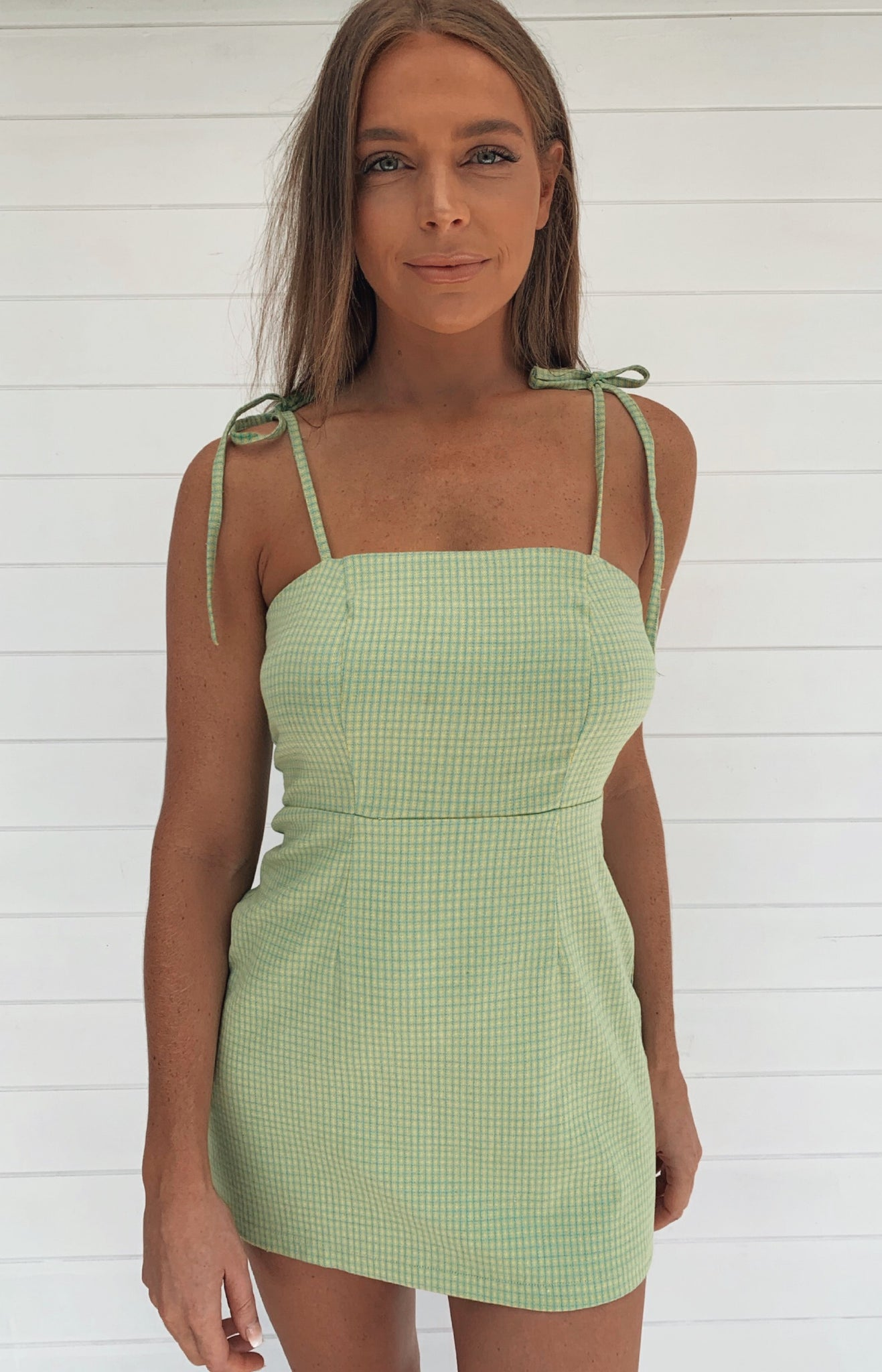 Valley High Mini Dress - Lime