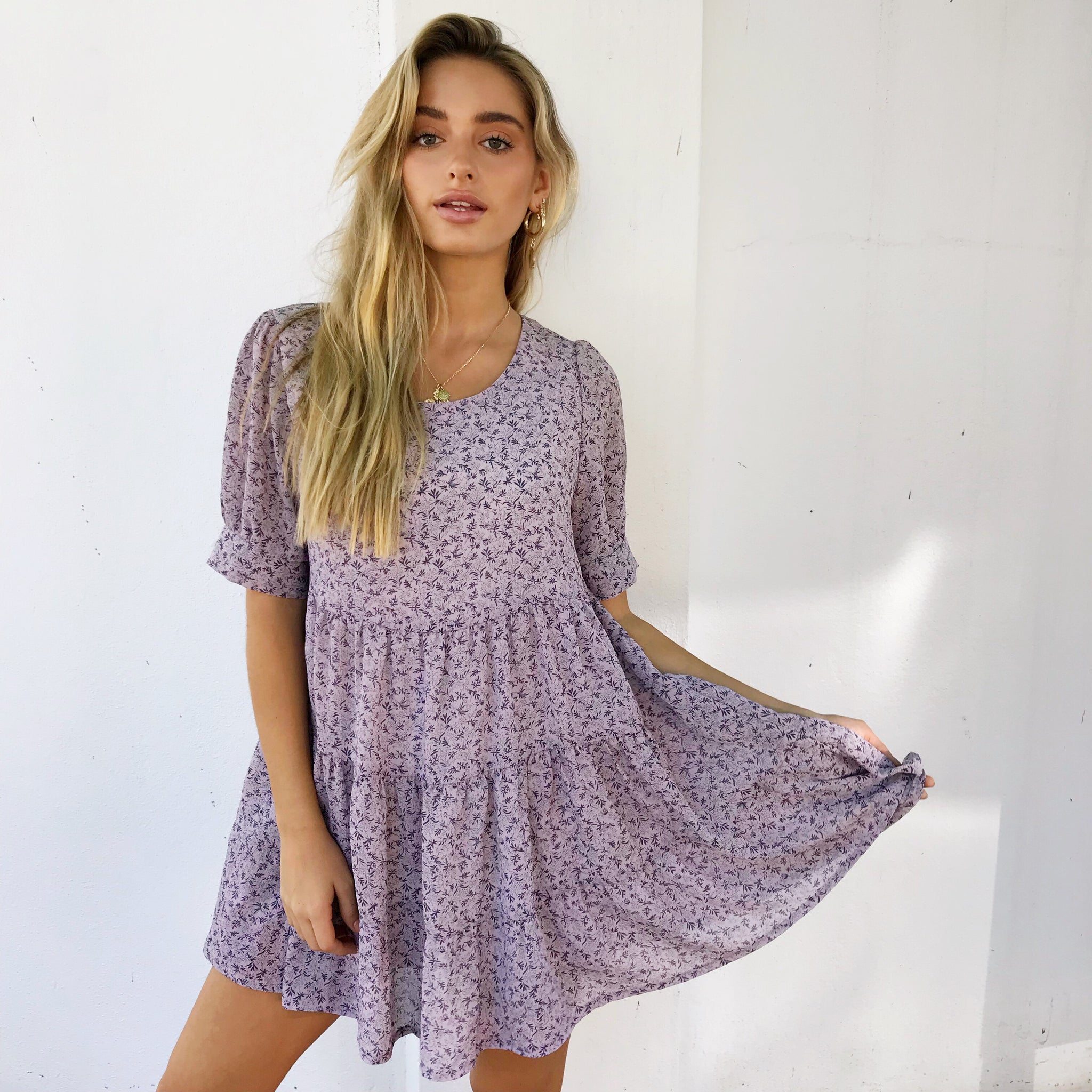 Melinda Mini Dress - Lilac