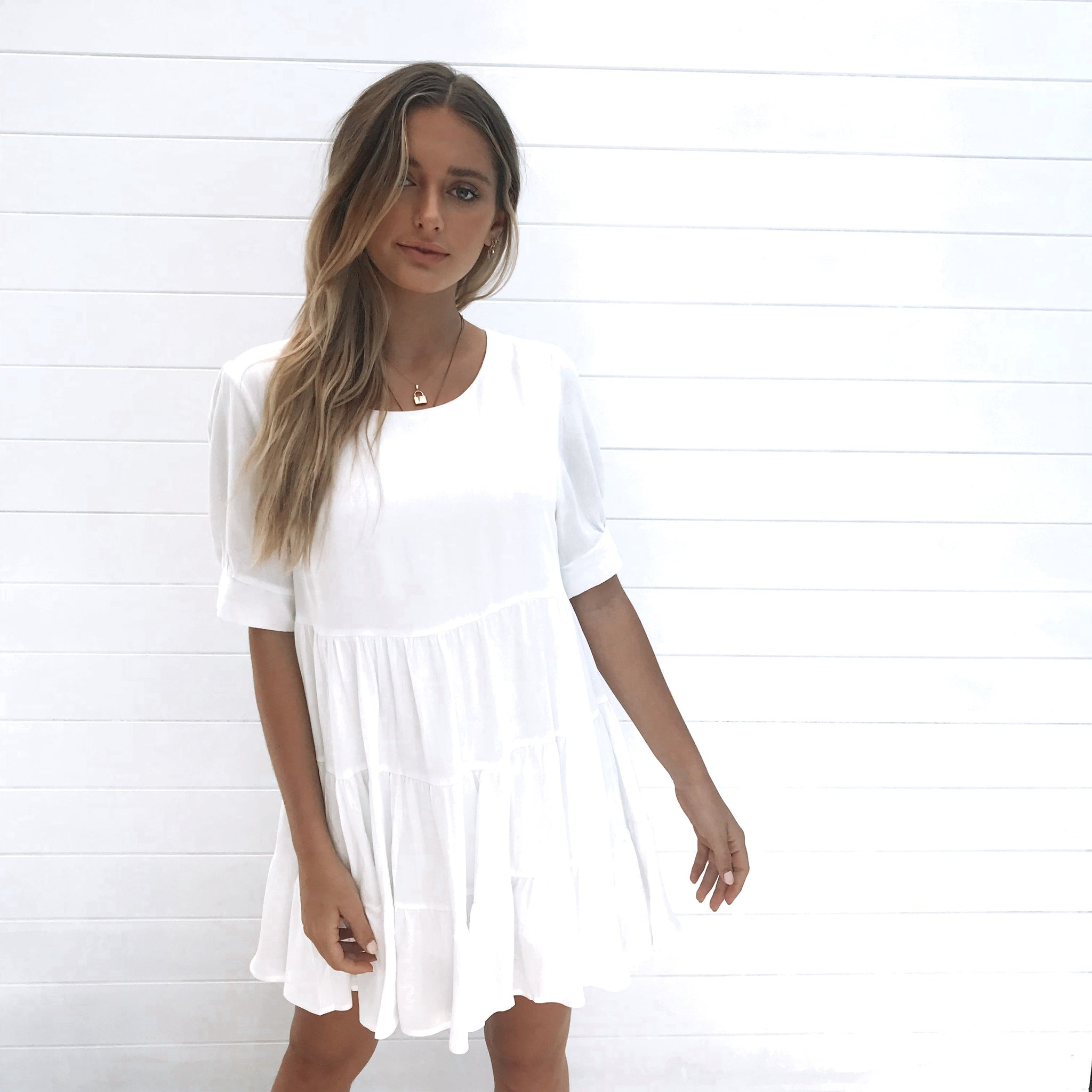 Melinda Mini Dress - White