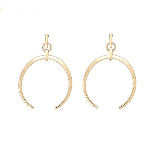 Semicircle Earrings - Gold