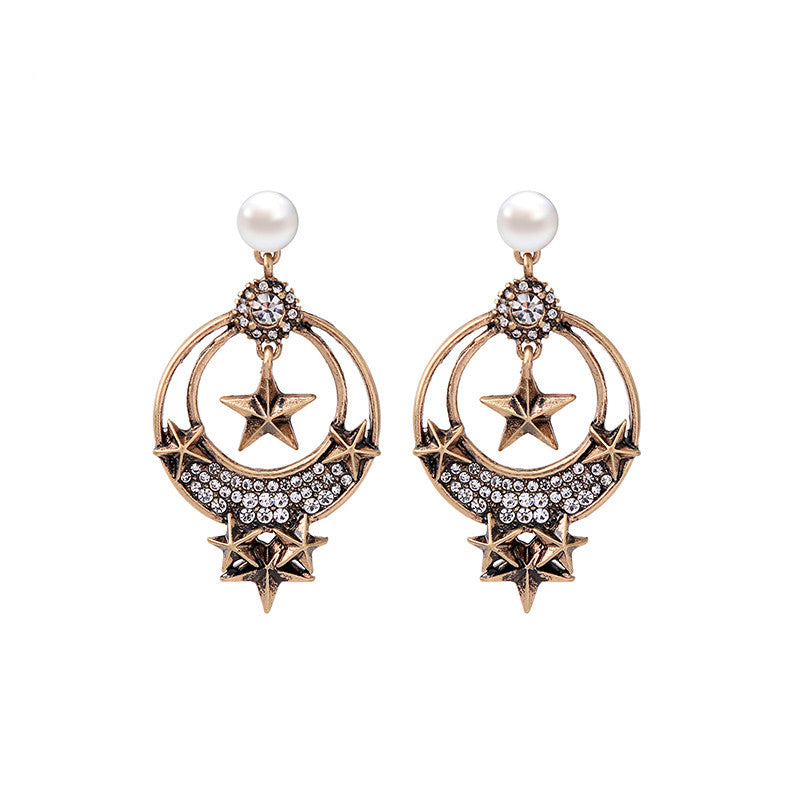 Tantra Earrings - Dark Gold