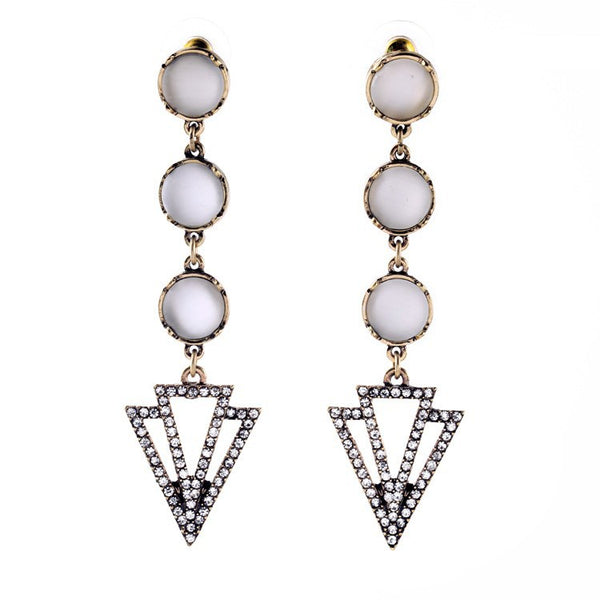 Through It All Earrings - White