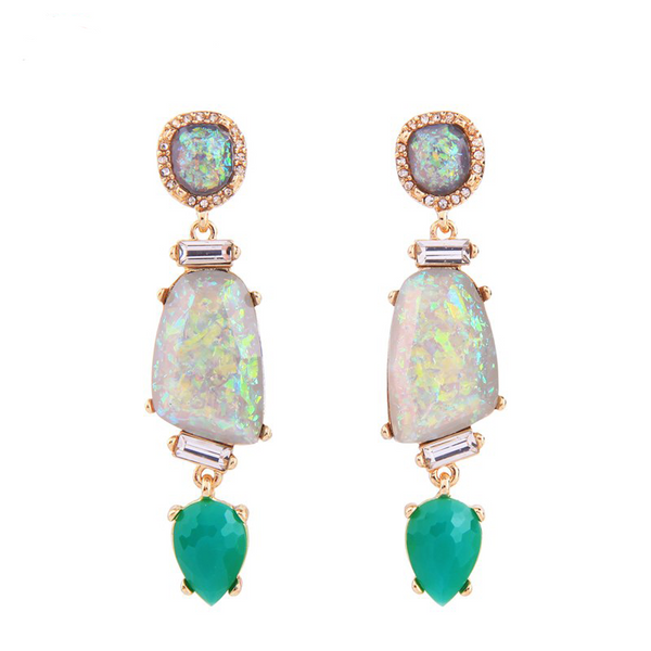 Ameeta Earrings - Green