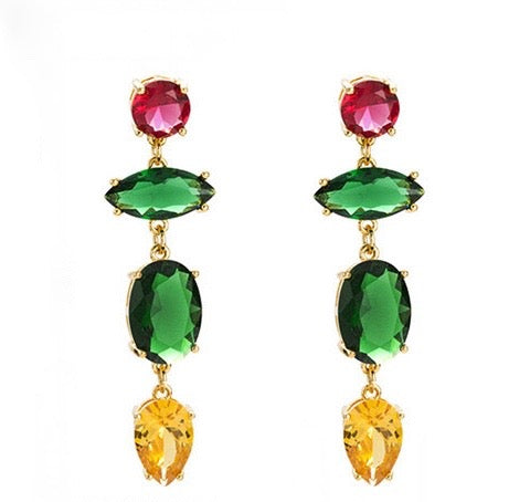 Artiste Earrings - Green