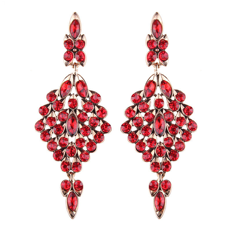 Athena Earrings - Red