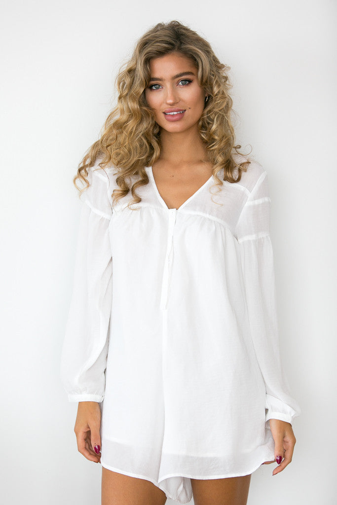 Palma Playsuit - White
