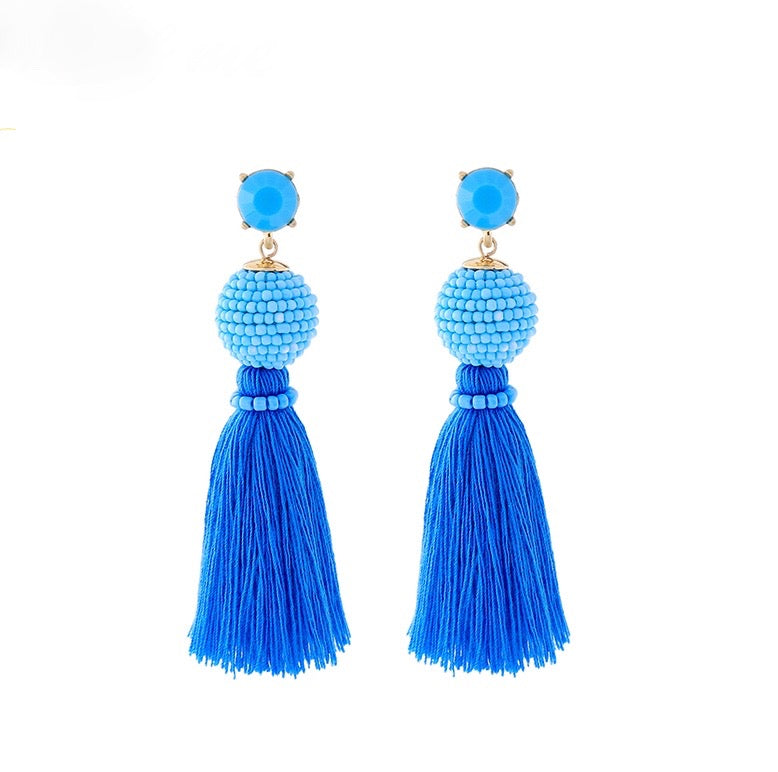 Palm Springs Earrings - Blue