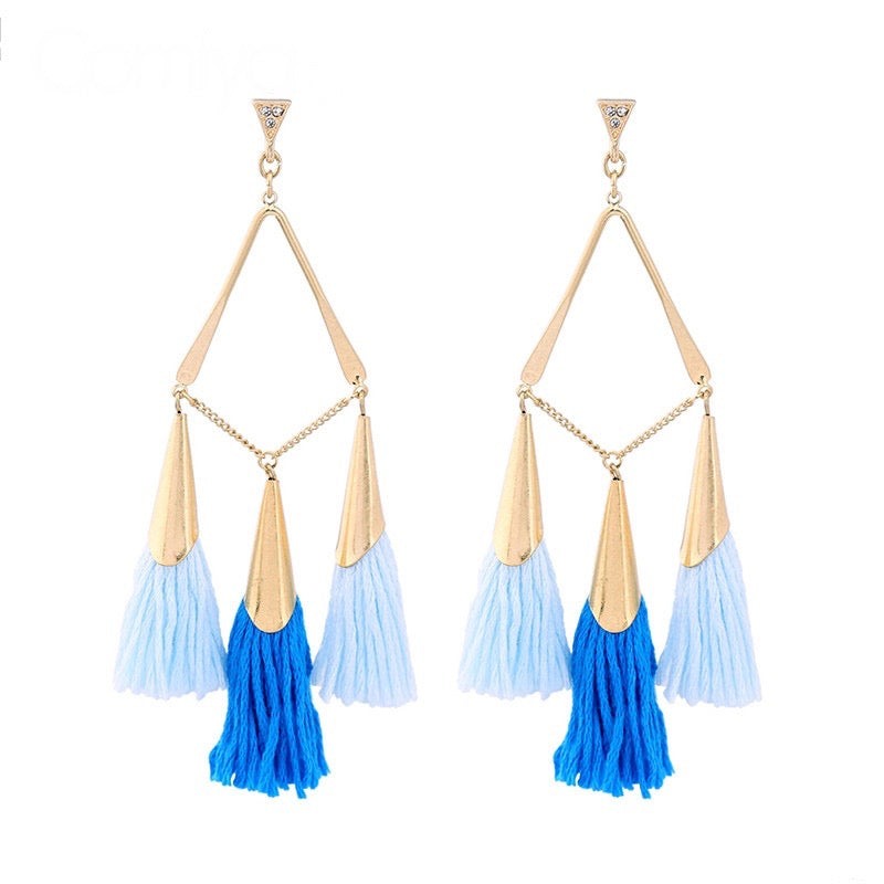 Fiesta Earrings - Blue