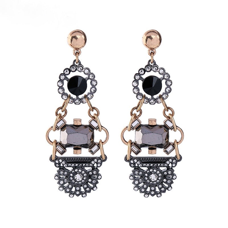 Leni Earrings - Charcoal