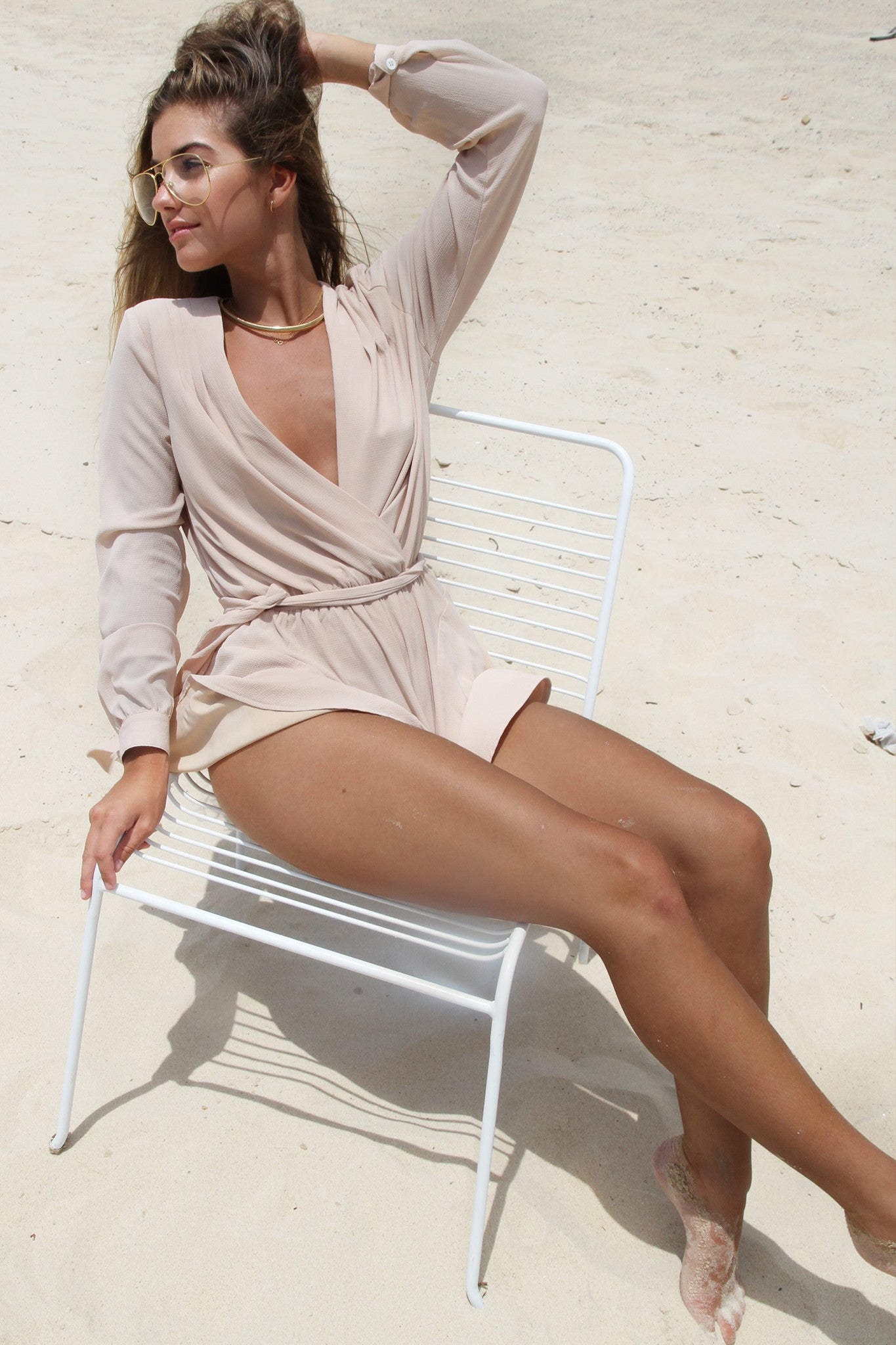 Claudia Playsuit - Nude