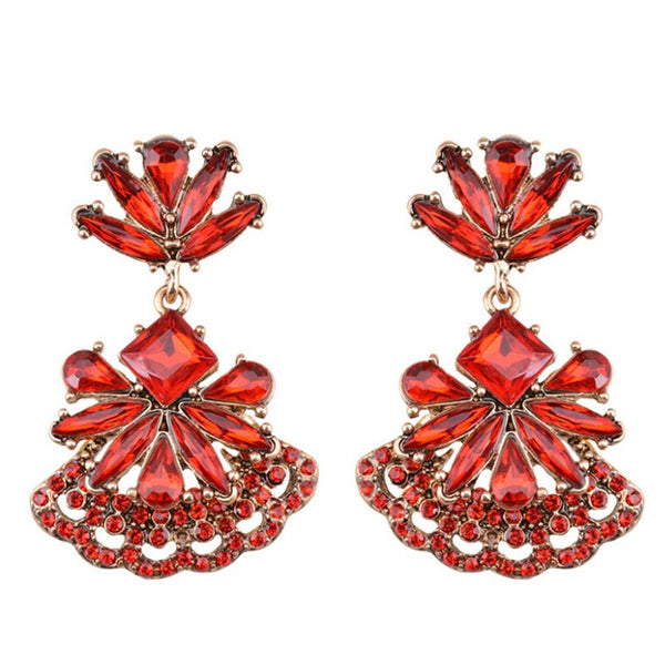 Cut Above Earrings - Red